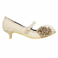 Irregular Choice White Daizy Days Wedding Shoes