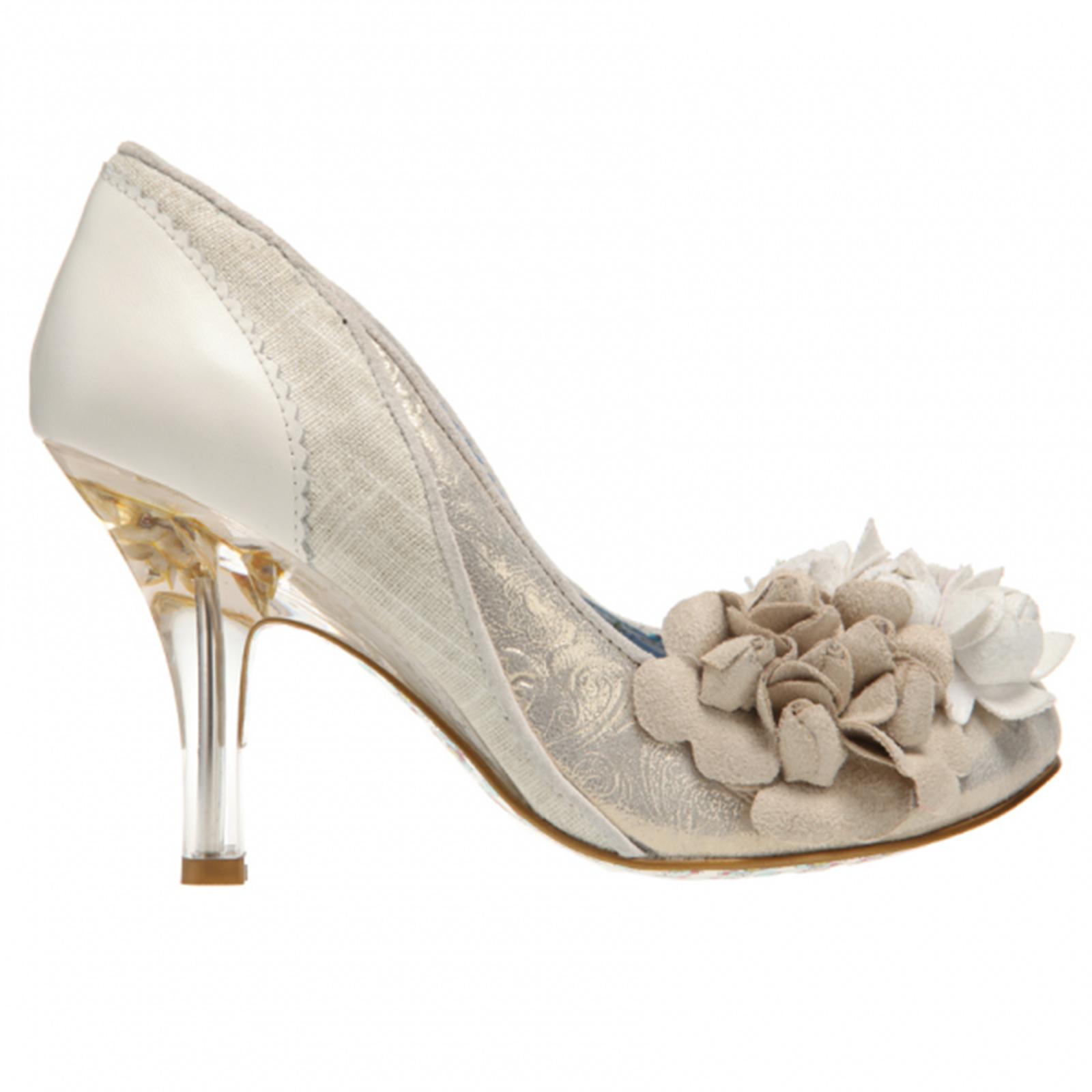 Irregular Choice Mrs Lower Ivory Gold Vintage Style High Heel Wedding Shoes