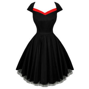Hearts and Roses London Black Flared 50s Style Vintage Party Prom Dress