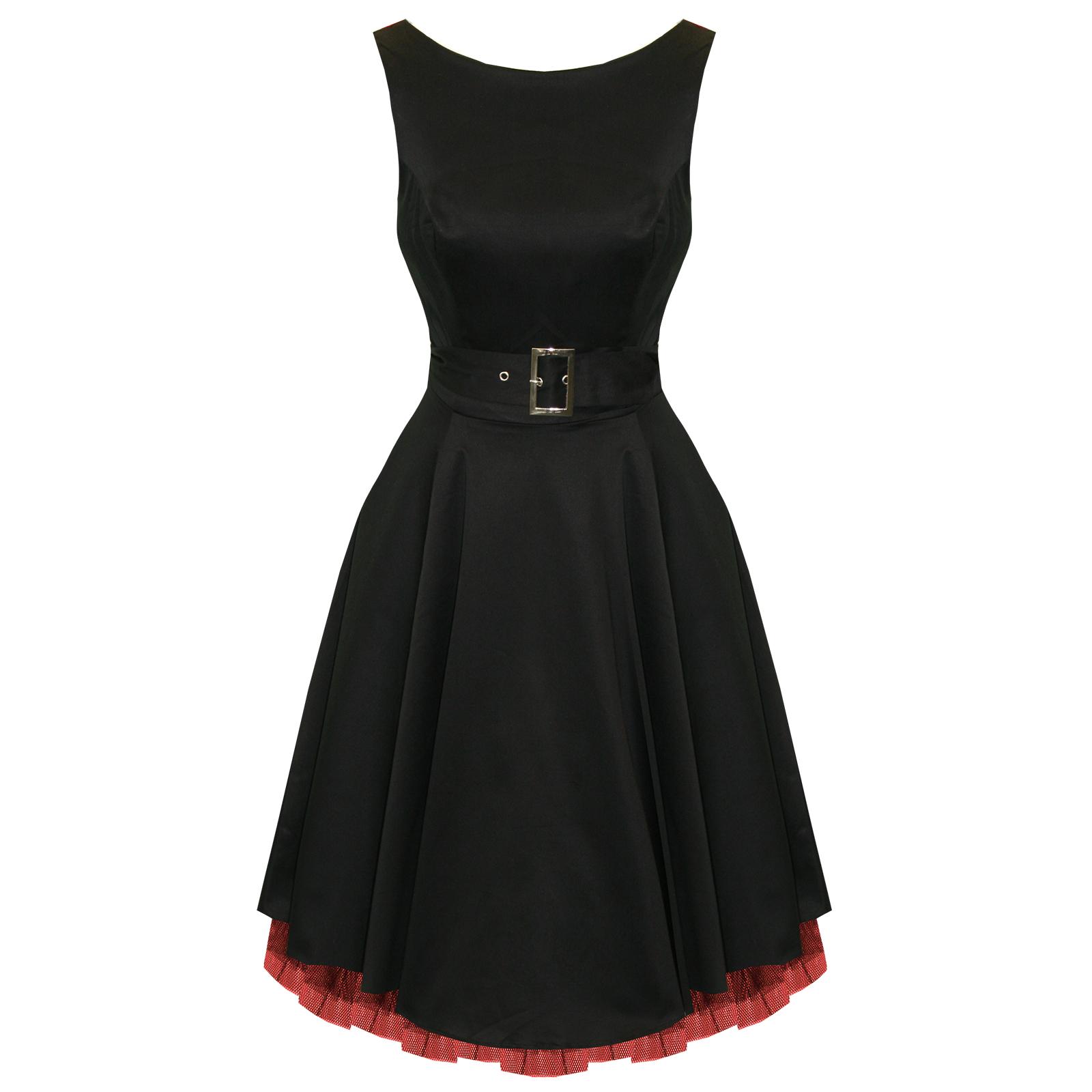 Kleid schwarz ausgestellt
