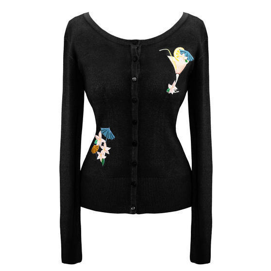 Banned Black Cocktail Cardigan Top