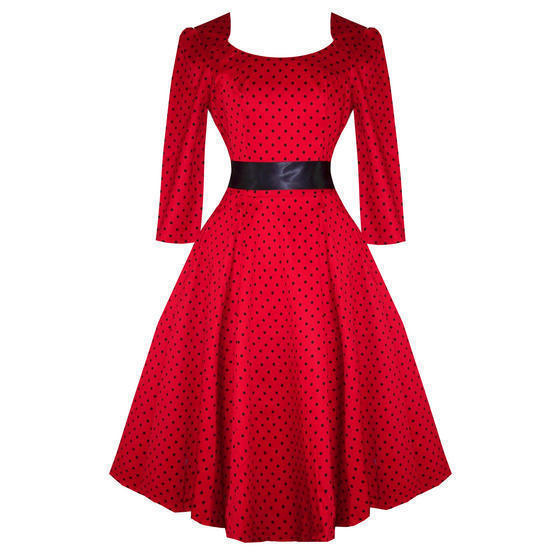 Hearts and Roses London Red Dot 1950s Dress