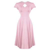 Hell Bunny Nell Pink WW2 1940S Wartime Landgirl Victory Tea Party Dress