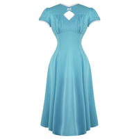 Hell Bunny Nell Blue WW2 1940S Wartime Landgirl Victory Tea Party Dress