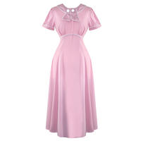 Hell Bunny Mae West Pink WW2 1940S Wartime Landgirl Victory Tea Dress
