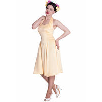 Hell Bunny Macy Yellow 50s Vintage Style Rockabilly Swing Party Dress
