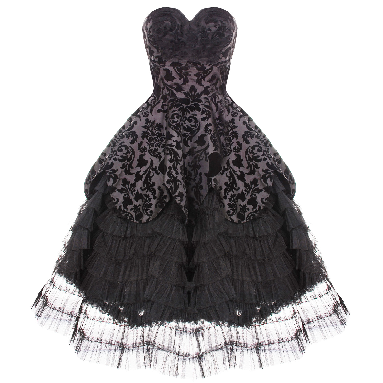 Hell bunny lavintage black goth victorian steampunk for Wedding dress in ebay
