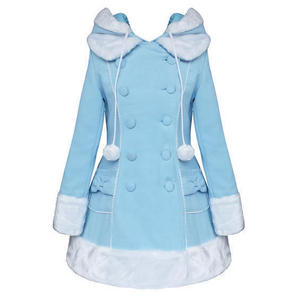 Hell Bunny Sarah Jane Light Blue Vintage Lolita Winter Coat