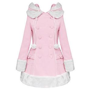 Hell Bunny Sarah Jane Light Pink Vintage Lolita Winter Coat