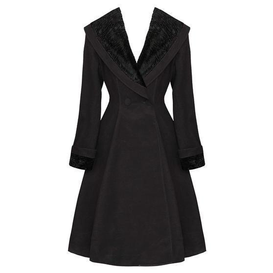 Hell Bunny Vivien Black Coat