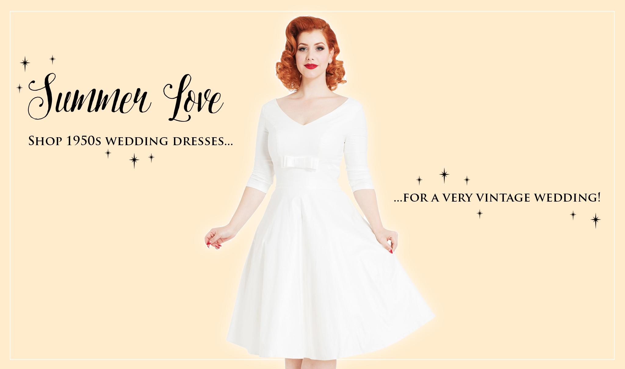 Vintage 1950s Wedding Dresses by Voodoo Vixen