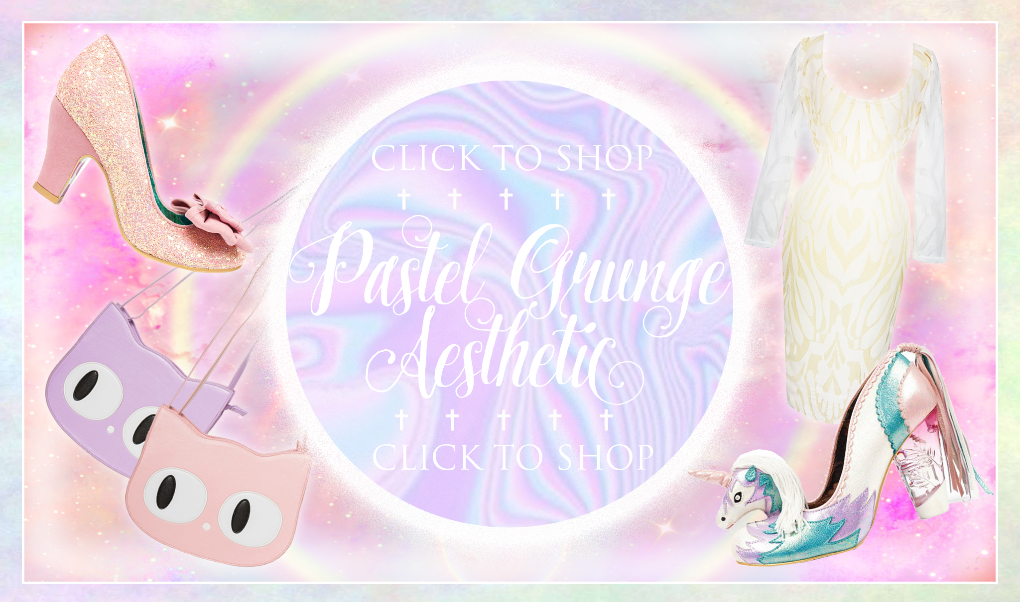 Brand new Pastel Grunge and Pastel Punk Clothing and Shoes