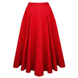 Hearts and Roses London Red Polka Dot Midi Skirt