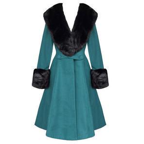 Hell Bunny Shonna Teal Blue Coat