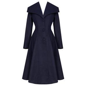 Hell Bunny Coleen Navy Coat