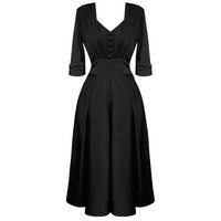 Hell Bunny June Black 40s Victory WW2 Tea Party Dress