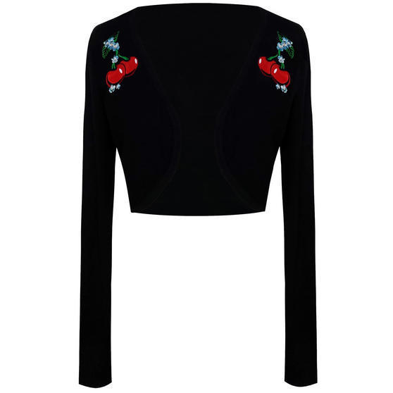 Banned Black Cherry Shrug Top