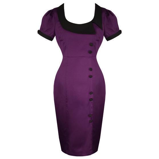 Banned Purple Pencil Dress