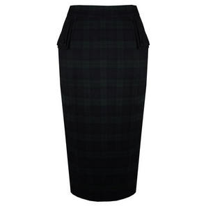 Banned Green Tartan Pencil Skirt