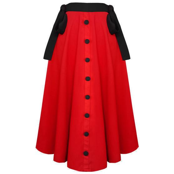 Banned Red Midi Skirt