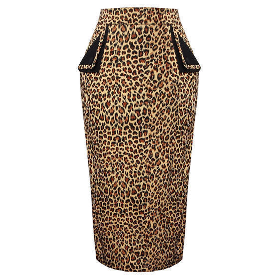 Banned Leopard Print Pencil Skirt