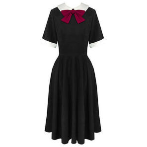 Hell Bunny Kim Black 1940s WW2 Wartime Victory Tea Dress