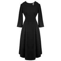 Hell Bunny Benita Black 1940s WW2 Wartime Victory Tea Dress