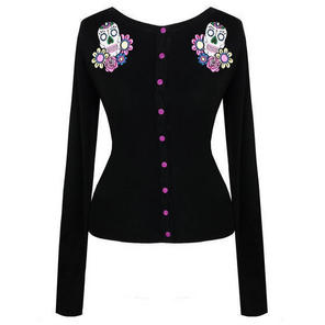 Hell Bunny Calavaras Sugar Skull Day of the Dead Rockabilly Cardigan Top