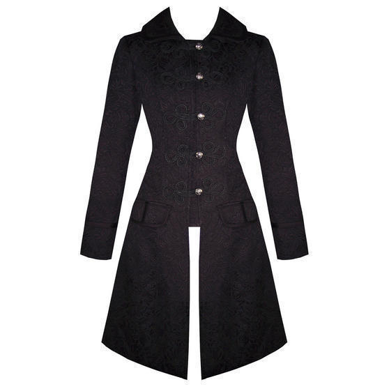 Hearts and Roses London Black Frock Coat