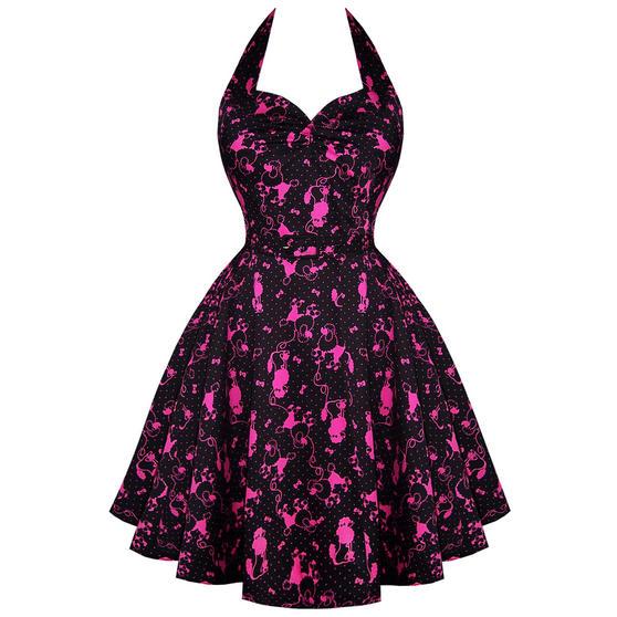 Voodoo Vixen Pink Poodle 1950s Dress