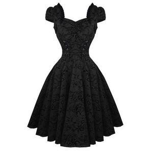 Hearts & Roses London Black Tattoo 1950s Rockabilly Vintage Party Prom Dress UK
