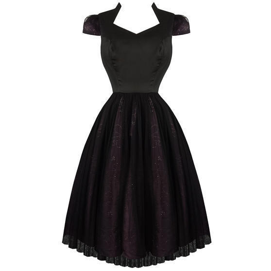 Hearts & Roses London Black Purple Dark Fairytale Party Prom Dress