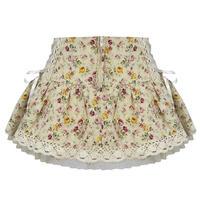 Hell Bunny Summer Boho Festival Cream Floral Vintage Mini Skirt