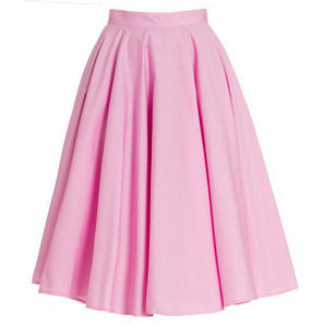 Hell Bunny 50s Swing Skirt Pink Paula Vintage Rock No Roll Style