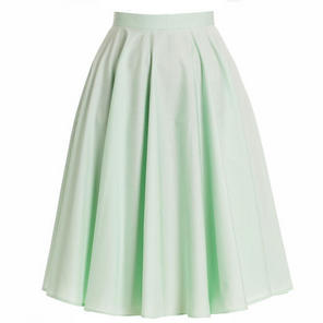 Hell Bunny 50s Swing Skirt Pale Green Paula Vintage Rock No Roll Style