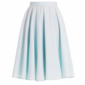 Hell Bunny 50s Swing Skirt Pale Blue Paula Vintage Rock No Roll Style