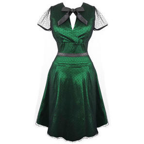 Womens Green Vintage Dress 50s Style Party Cocktail Prom