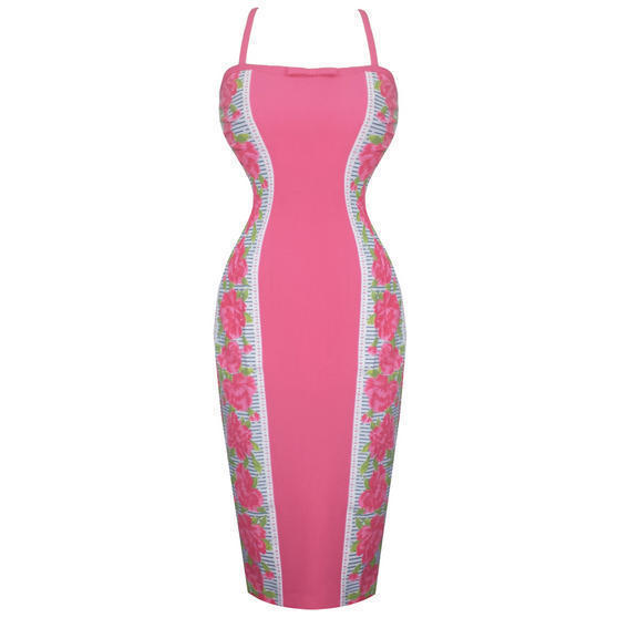 Glamour Bunny Rose Pencil Dress