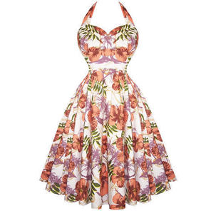 Hell Bunny Kaila 1950s Swing Dress Exotic Floral Party Prom Holiday Cruise