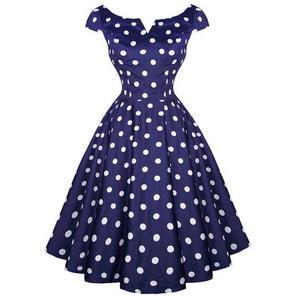 Hell Bunny Antoinette 1950s Swing Dress Party Prom Polka Dot Spot