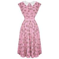 Hell Bunny Pink Penny Love 1940s Wartime WW2 Summer Tea Victory Sun Dress