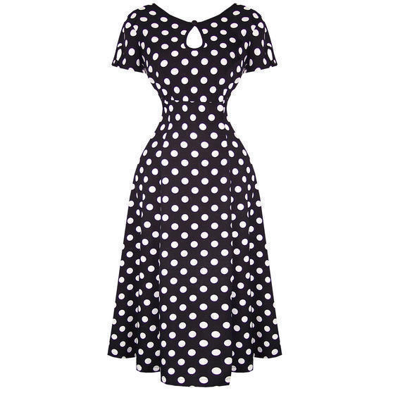 Banned Black Polka Dot 1940s Dress