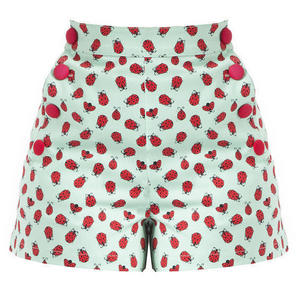 Womens New Ladybird Summer Beach Holiday Cruise Shorts Vintage 50s Style