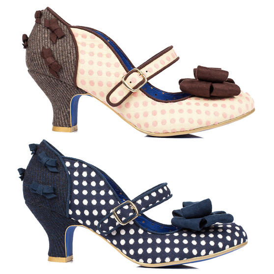 Poetic Licence Miss Thing Blue Polka Dot Shoes