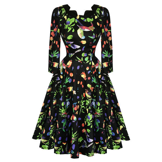 Hearts and Roses London Midnight Tropical 1950s Dress