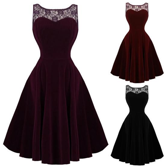Hearts and Roses London Velvet Romance 1950s Dress