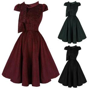 Hearts and Roses London Velvet Leopard 1950s Dress