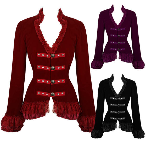Hearts and Roses London Velvet Victorian Jacket