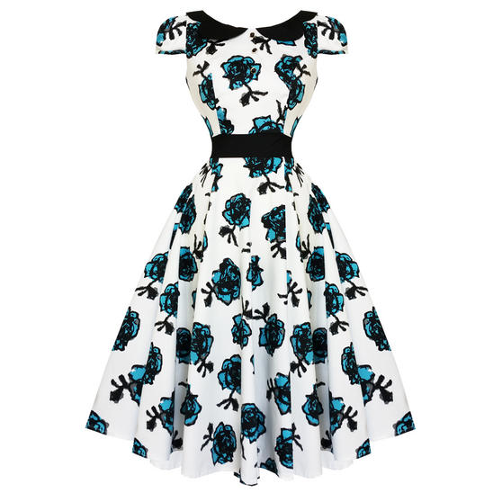 Hearts & Roses London Blue Floral Dress