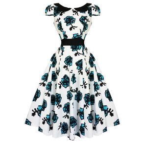 Hearts & Roses London Blue Floral Dress